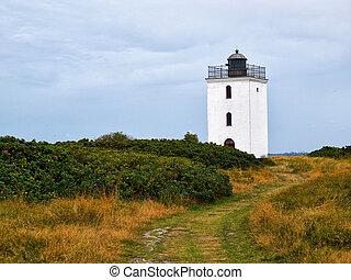 Small lighthouse on the coast