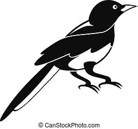 Small magpie icon, simple style - Small magpie icon. Simple...