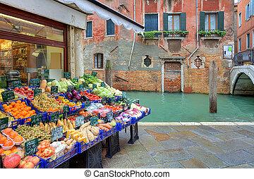 Small market. Venice, Italy.