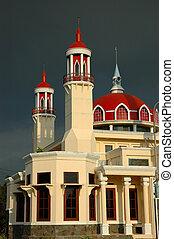 small masjid with arabic decorative style