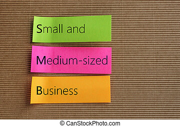 Small Medium-sized Business (SMB) text on colorful sticky notes