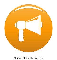 Small megaphone icon orange