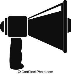 Small megaphone icon, simple style