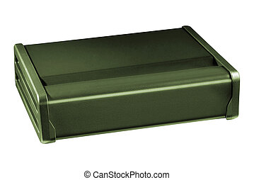 small metal box isolated