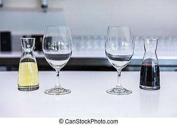 small mini decanter, wine tasting