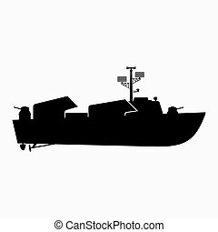 Small missile boat, cutter or a fast warship