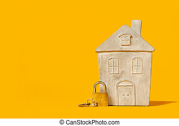 Small model of house with lock