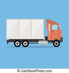 small modern cargo truck for transportation