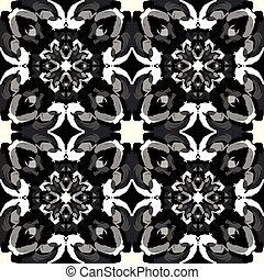 small monochrome tribal vintage seamless pattern