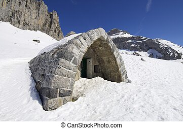 refuge - small mountain refuge in the valley of Lizara,...