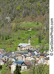 small mountain village in the French Pyrenees