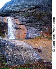 Small mountain waterfall