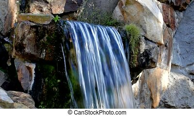 small mountain waterfall