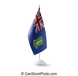 Small national flag of the British Virgin Islands on a white background