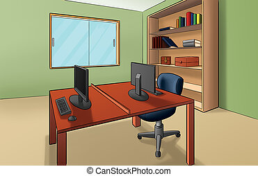Office room Clip Art and Stock Illustrations. 46,540 Office room EPS ...