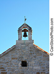 Small old church tower