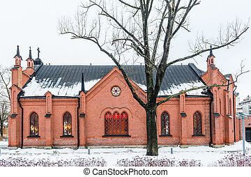 Small old style church in Helsinki
