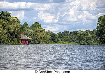 Small pagoda on a lake