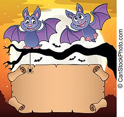 Small parchment and cartoon bats