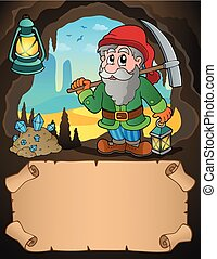 Small parchment and dwarf miner 1 - eps10 vector...