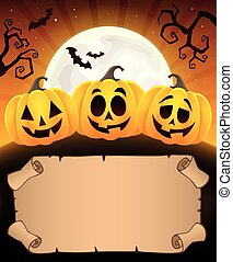 Small parchment and Halloween pumpkins 1