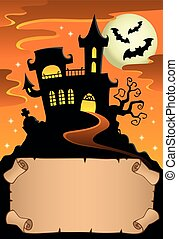 Small parchment and haunted mansion 3 - eps10 vector...