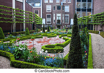 Small park in Amsterdam