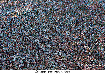small pebbles in the park on the ground