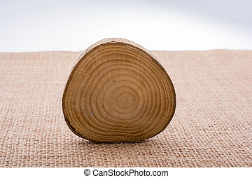 Small piece of cut wood logs