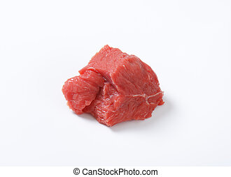 piece of raw beef