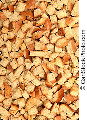Small pieces dried bread - Texture of small pieces dried...