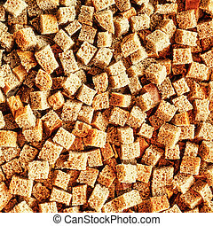 Small pieces dried bread - Texture of small pieces of dried...