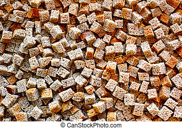 Small pieces of dried bread - Many small pieces of dried...