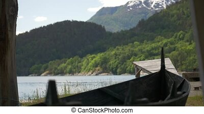 Small Pier At A Fjord, Norway - Rack Focus - Untouched and...
