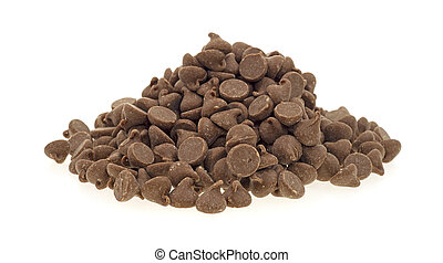 Small pile milk chocolate chips