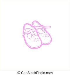 Small pink baby shoes