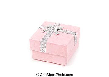 Small pink present box