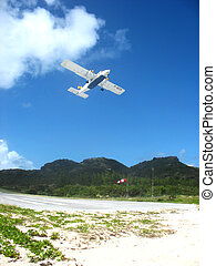 Small plane taking off from St Bart