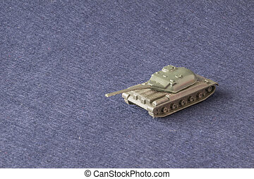 Small plastic miniature of army tank
