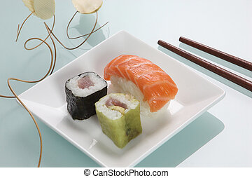 Small plate of sushi