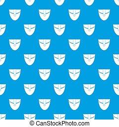 Small pocket patch pattern seamless blue
