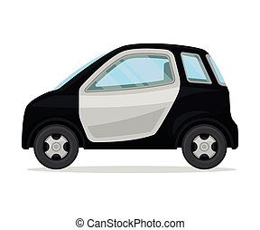 Small police car. Vector illustration on a white background.
