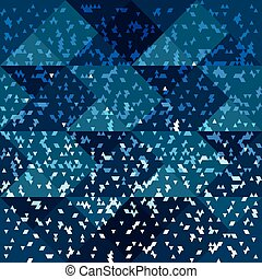 small polygons on a blue background seamless pattern