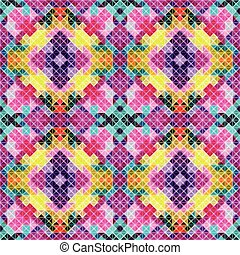 small polygons retro geometric seamless pattern vector illustration