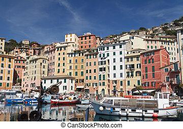 small port in Camogli, Italy