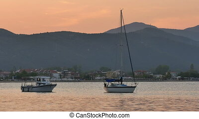 small port sunset 4k