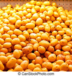 Small potatoes - Big bunch of small potatoes at market