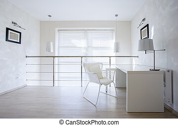 Small private office - Horizontal view of small private...