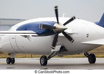 Small private propeller plane