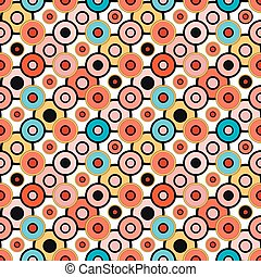small psychedelic circles seamless pattern